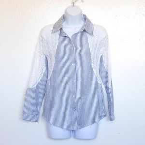 ✨10 for $10✨ Blue Striped Buttondown Shirt